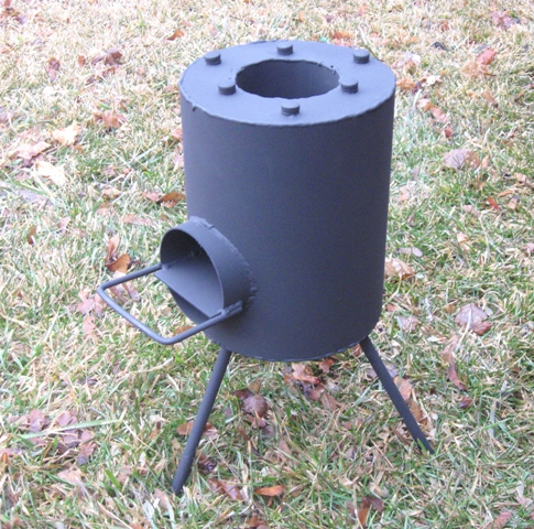 Diy rocket stove simple and runs on twigs ecorenovator for Portable rocket stove plans